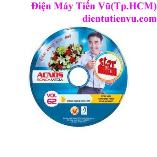Đĩa DVD Karaoke Acnos mới nhất Vol 62 B+ list nhạc