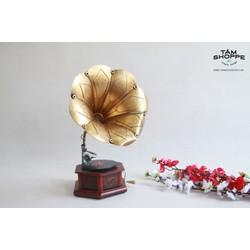 Mô hình Máy phát nhạc cổ điển dĩa than loa kèn
