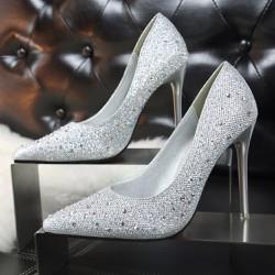 Giày cao gót đính hạt cực kỳ cá tính - 110