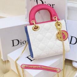 Túi xách DR Lady mini phối màu