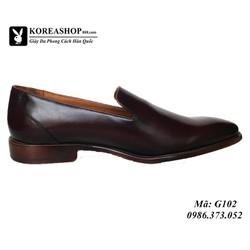 Giày Da Bò Italy Đế Khâu Handmade Mã G102