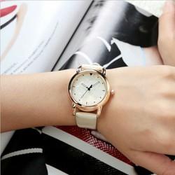 đồng hồ nữ dây da cực sang
