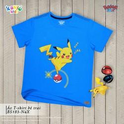 Áo thun in hình Pikachu đứng trên Pokeball 29-50kg
