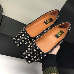 Giày búp bê mũi vuông cá tính