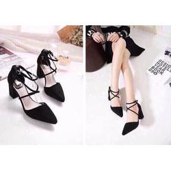 giày sandal quấn cổ