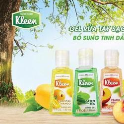 Combo 3 chai Gel rửa tay Kleen hương trái cây 30mlx3