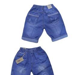 Quần jean lửng lật lai cho bé trai từ 45kg-60kg