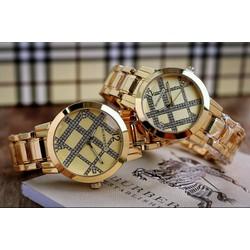 đồng hồ đôi inox carô cực đẹp