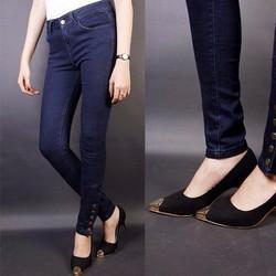 Quần jean nữ lưng cao 5 nút bắp chân - AV2228