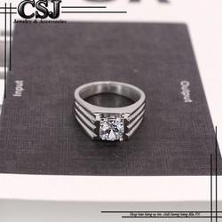 Nhẫn inox nam cao cấp đẹp phong cách Hàn Quốc