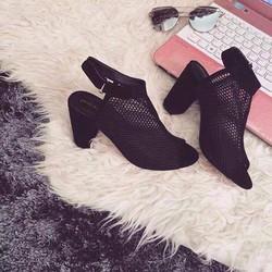 giày sandal nữ lưới dán