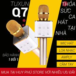 Mic hát karaoke mini Q7 trên điện thoại