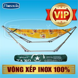 Võng xếp INOX 100 cao cấpTAKO