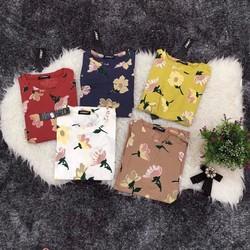 Áo pull hoạ tiết hoa