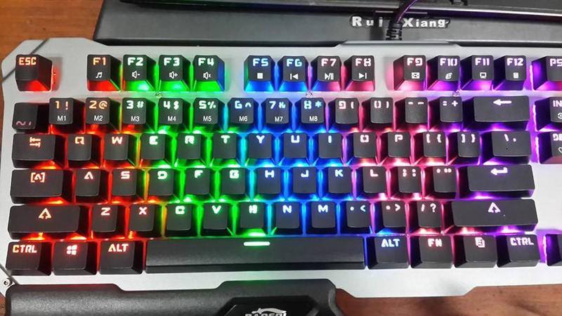 Bàn phím Cơ Daosol DB18T - LED 7 màu, có kê tay 2