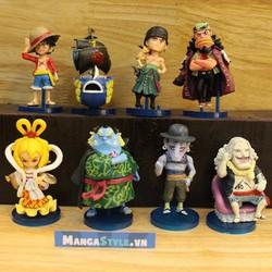 Bộ Mô Hình Luffy Và Băng Hải Tặc Người Cá - One Piece