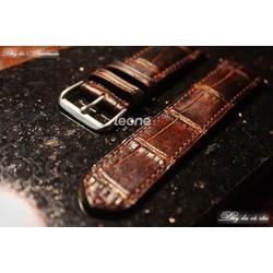 Dây Đồng Hồ Handmade da Cá Sấu SDH013