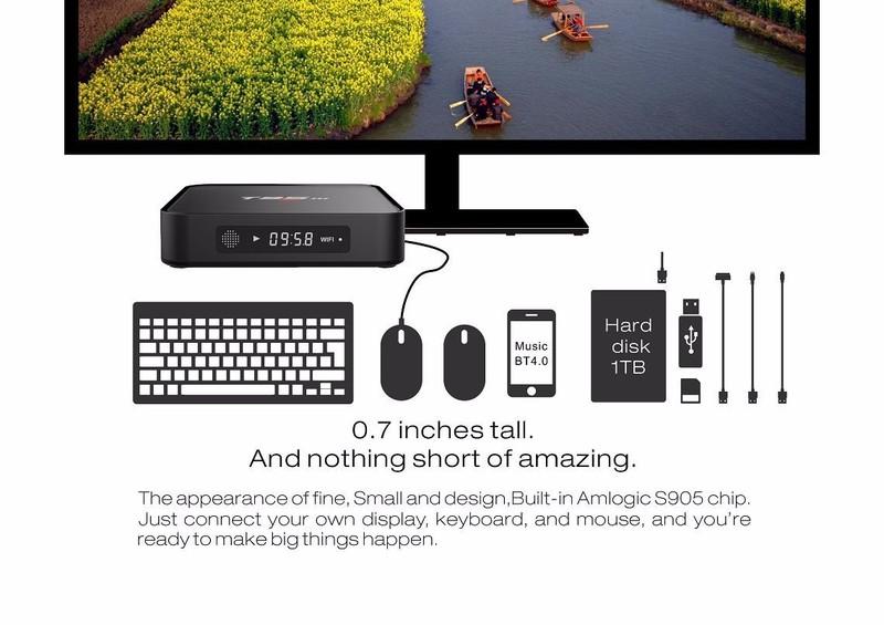 TIVI BOX T95M 4K-RAM 2G ANROID 6.0 -ĐÈN LED 1