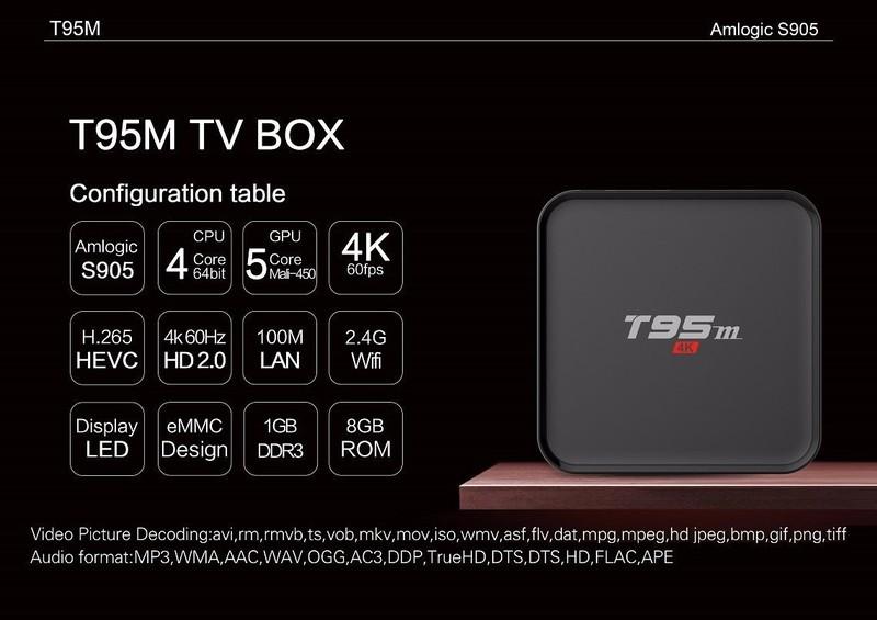 TIVI BOX T95M 4K-RAM 2G ANROID 6.0 -ĐÈN LED 2