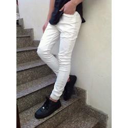 Quần jean jogger trắng rách nhẹ hàng đảm bảo hình thật sản phẩm