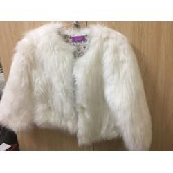 Áo khoác lông xù made in korean, đẹp trẻ trung sang chảnh