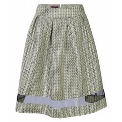 Chân váy xòe nữ phối lưới - Vàng