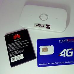 Thiết bị wifi E5573 phát wifi 4G – Tặng sim 4G Mobifone 62GB mỗi thang