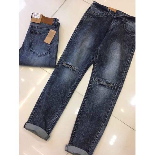 JB23 - Quần jeans nam wash nhạ ống suông đẹp hàng cao cấp