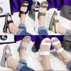 Giày sandal bánh mì đế viền