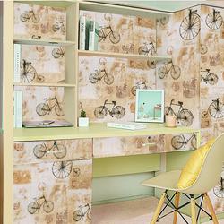 Decal Giấy dán tường xe đạp phong cách