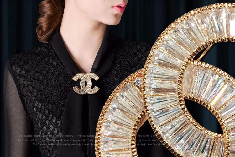 Cài áo Chanel đá cao cấp CA11 5