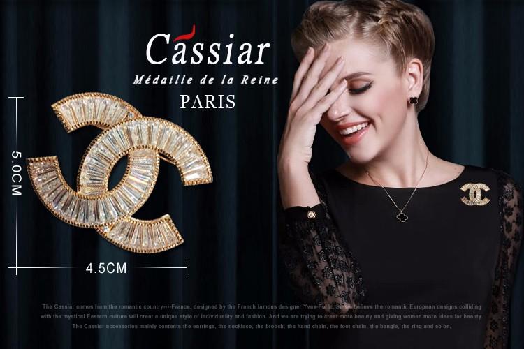 Cài áo Chanel đá cao cấp CA11 3