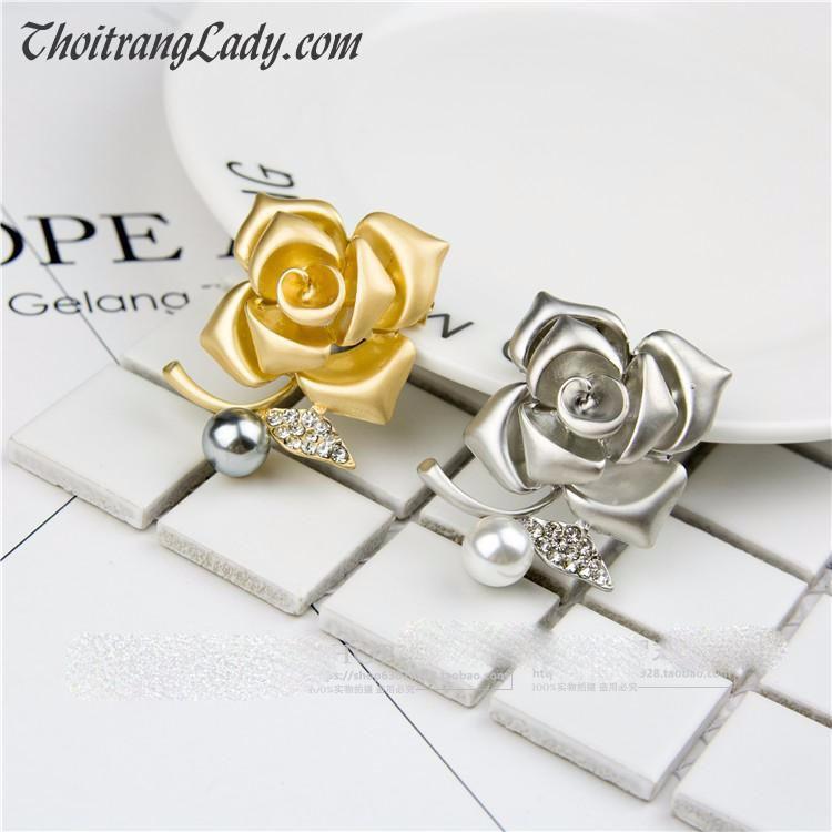 Cài áo hoa hồng CA10 5