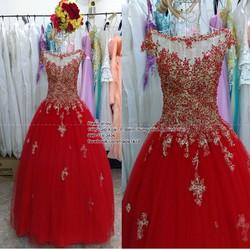 Áo cưới đỏ tay con