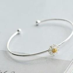 vòng tay hoa cúc si bạc 925