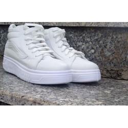 giày cao cổ nữ trắng