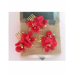 Lược hoa cài tóc cô dâu cao cấp PF0049RE01