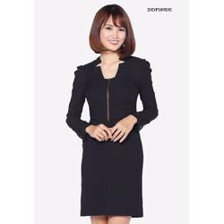Đầm công sở The One Fashion DDP189DE màu đen