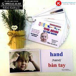 Flashcard tiếng Anh cho bé KatchUp - Chủ đề Cơ thể