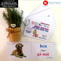 Flashcard tiếng Anh cho bé KatchUp - Chủ đề Con vật