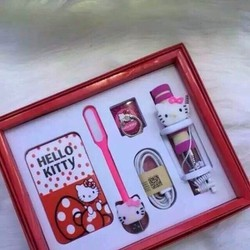 Combo Hộp Quà Tặng Họa Tiết Hello Kitty