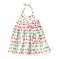 Áo đầm CRAZY Cherry Halter Dress - Size 3-6 tháng