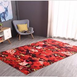 Thảm lông 3D hoa hồng đỏ BINBIN TL01