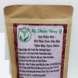 Bột Thảo Dược rửa mặt Thiên Mộc Sắc ngừa mụn thiên nhiên 100gram