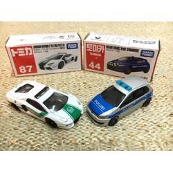 Set 2 xe mô hình cảnh sát Tomica