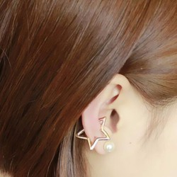 Bông tai không bấm lỗ ngôi sao