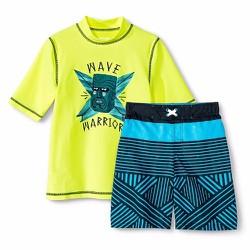 Bộ đồ bơi bé trai Cherokee Boys Rashguard and Swim Trunk - Size XL-16