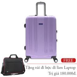 Vali nhựa cứng dẻo khung nhôm 50 cm màu tím TL029