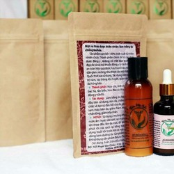 THIÊN MỘC SẮC thuốc trị Mụn 50ml và bột rửa mặt thảo dược 100g