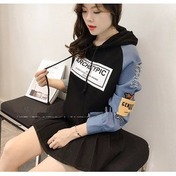 Áo khoác tay phối vải jean